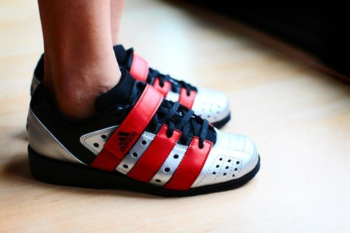 Wearing Adidas Weightlifting Shoes