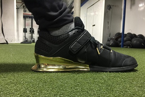 Weightlifting Shoe With Elevated Heel