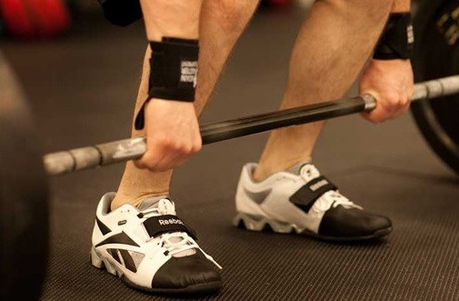 Wearing Weightlifting Shoes